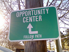 opportunity center sign