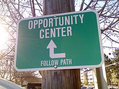 opportunity center sign