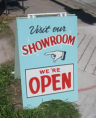 showroom sign