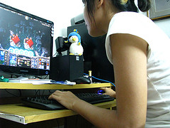 gamer playing World of Warcraft