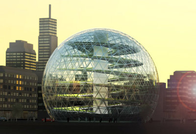 Plantagon: geodesic urban greenhouse