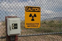radioactive materials hazard sign