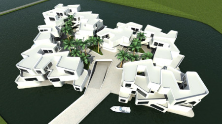 The Citadel - floating apartment complex concept