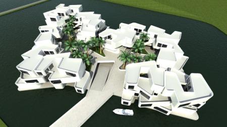 The Citadel - floating apartment complex concept