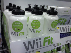 Wii Fit water bottles