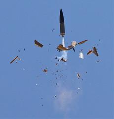 exploding rocket