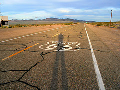 tall shadows on Route 66