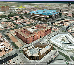 Valencia, Spain as seen in Google Earth