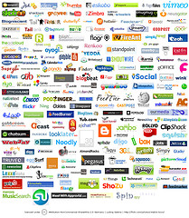 mosaic of Web2.0 logos