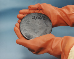 Billet of highly-enriched uranium