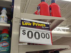 Deep discounts at Wal-Mart...
