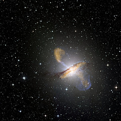 Centaurus A galaxies erupting