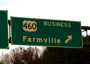 The road to Farmville