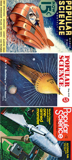 Retro covers from Popular Science Magazine