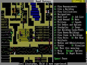 Screenshot from Dwarf Fortress