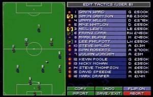 Screenshot from Sensible World of Soccer