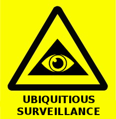 Ubiquitous surveillance hazard sign