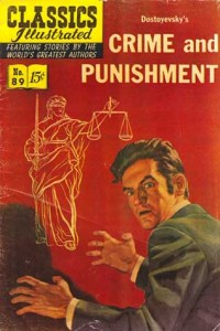 Pulp novel jacket for Crime & Punishment