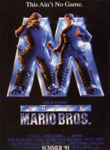 Super Mario Brothers movie promo poster