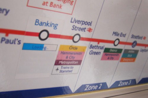 Central Line tube map sticker hack
