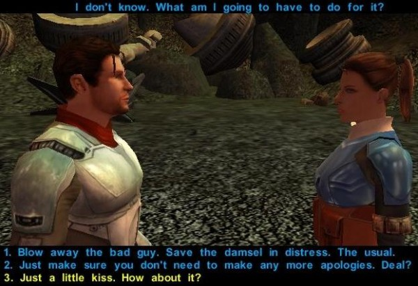 Screenshot from Knights of the Old Republic