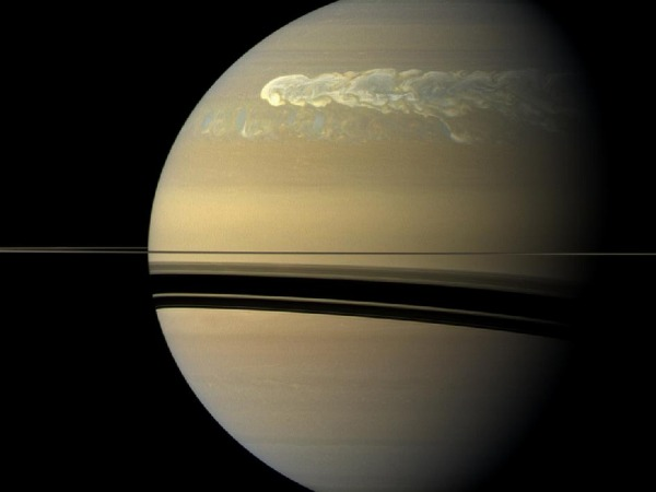 Storm on Saturn - image courtesy NASA