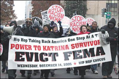FEMA protest march