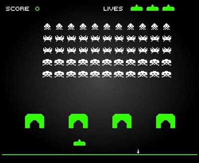Screengrab from Space Invaders